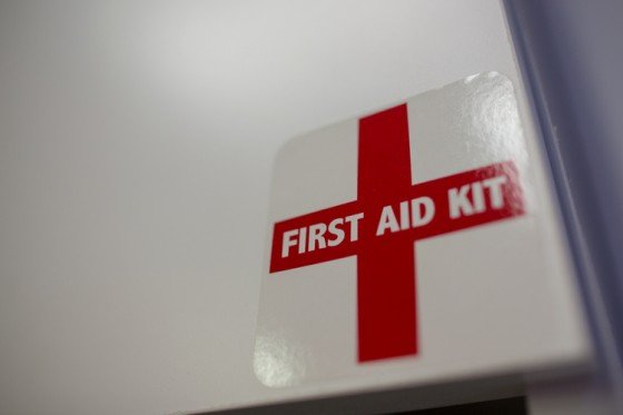 Close up of First Aid kit