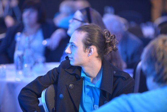 Stephen seated at the awards ceremony
