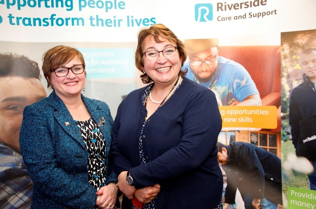 Launch of the new Riverside branding - Leann Hearne (L) and Carol Matthews