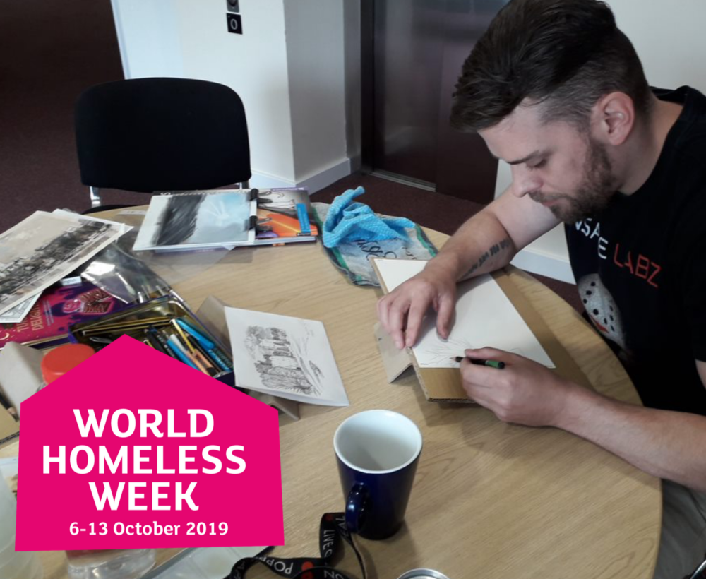 2019 World Homeless Week - veterans art therapy