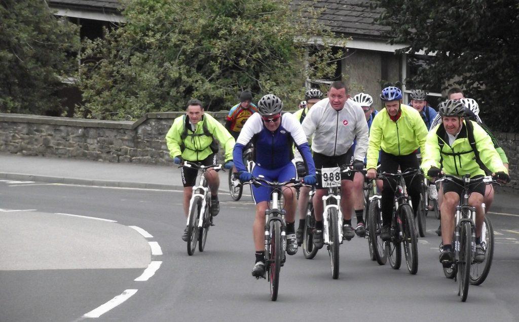 Charity bike riders